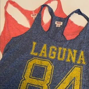 2 Racer back tanks